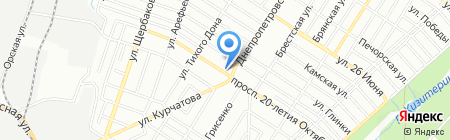 Аптека №22 на карте Ростова-на-Дону