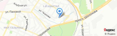 Детский сад №243 на карте Ростова-на-Дону