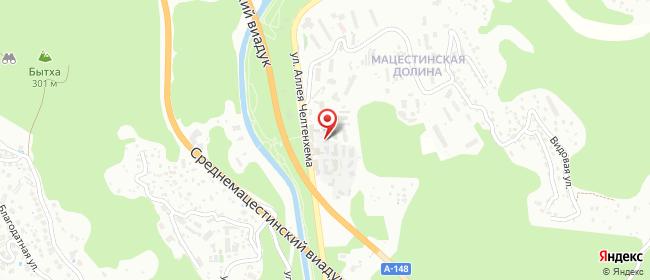 Карта расположения пункта доставки Мацеста в городе Сочи