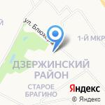 Фламинго на карте Ярославля