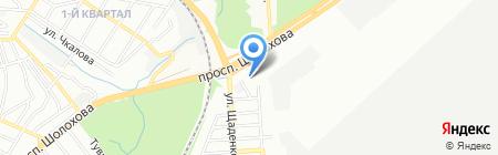 Средняя общеобразовательная школа №54 на карте Ростова-на-Дону