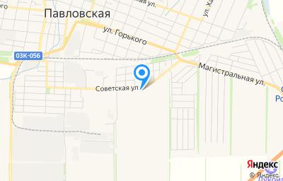 Местоположение на карте пункта техосмотра по адресу Краснодарский край, ст-ца Павловская, ул Советская, д 66