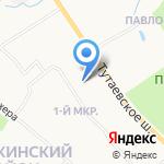 Улыбка радуги на карте Ярославля