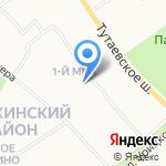 Детский сад №216 на карте Ярославля