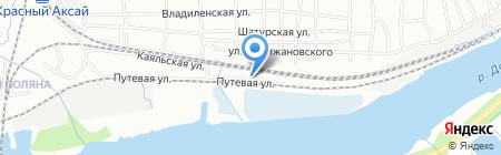 Берег на карте Ростова-на-Дону