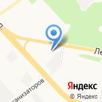 Аллея Мебели на карте Ярославля
