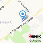 Средняя общеобразовательная школа №72 на карте Ярославля