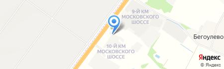 Автомобилия на карте Бегоулево