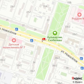 г. Рязань, ул. Новоселов, на карта