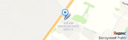 Автошина на карте Бегоулево