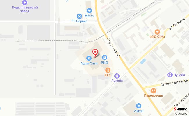 Карта расположения пункта доставки Билайн в городе Вологда