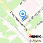 За стеклом на карте Ярославля