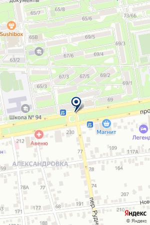АВТОСТОЯНКА ТИССА на карте Волгодонска