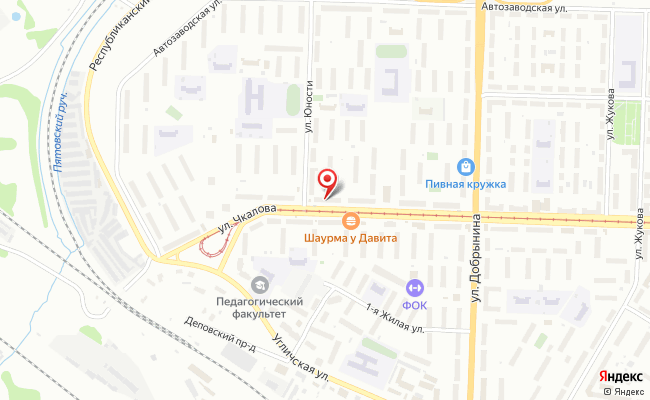 Карта расположения пункта доставки Ярославль Чкалова в городе Ярославль