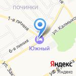 Южный на карте Ярославля