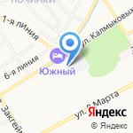 Физкультурно-оздоровительный комплекс №6 на карте Ярославля