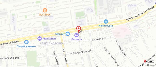 Карта расположения пункта доставки Ростов-на-Дону 40-летия Победы в городе Ростов-на-Дону