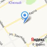 Диана на карте Ярославля