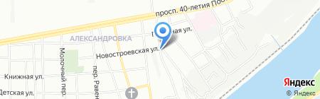 Жёлтый на карте Ростова-на-Дону