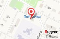 Схема проезда до компании Магазин хозтоваров в Полянах