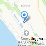 Свято-Введенский Толгский женский монастырь на карте Ярославля