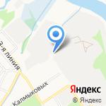 Закат на карте Ярославля