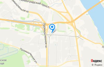 Местоположение на карте пункта техосмотра по адресу г Ярославль, ул Выставочная, д 1