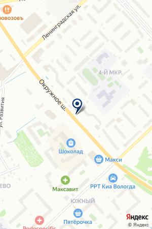 АВТО-ВЕСТ на карте Вологды
