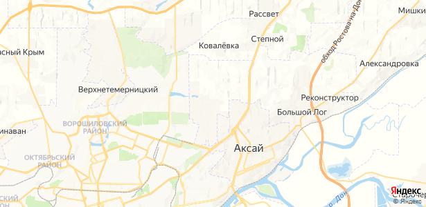Водопадный на карте