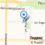 Юнис на карте Ярославля