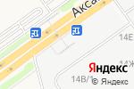 Схема проезда до компании Строительный крепеж в Аксае