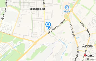 Местоположение на карте пункта техосмотра по адресу Ростовская обл, г Аксай, пр-кт Аксайский, д 13