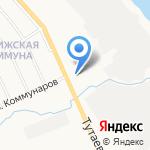 Пингвин на карте Ярославля