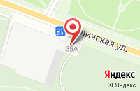 Схема проезда до компании Трапезная в Ярославле