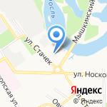 Церковь Андрея Критского на карте Ярославля