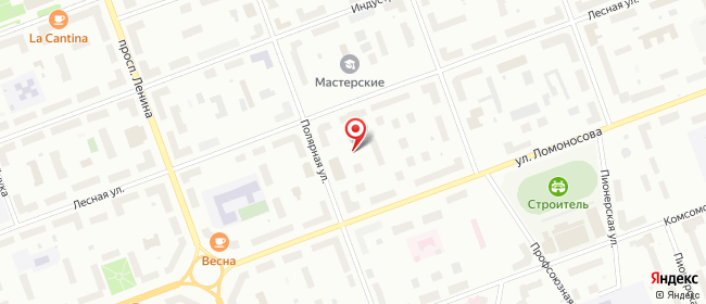 Карта расположения пункта доставки Халва в городе Северодвинск