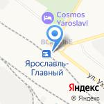 Вокзал Ярославль-Главный на карте Ярославля