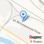 Зеленый вагон на карте Ярославля