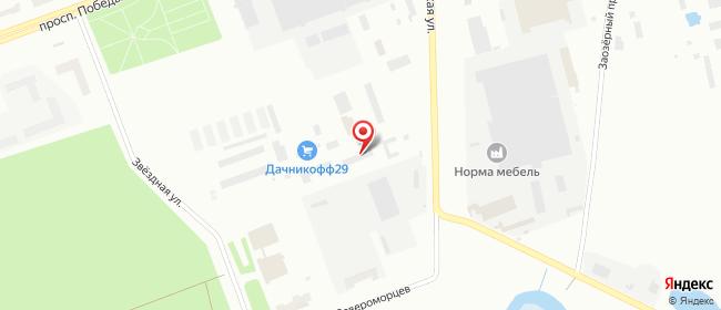Карта расположения пункта доставки DPD Pickup в городе Северодвинск