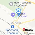 Путник на карте Ярославля