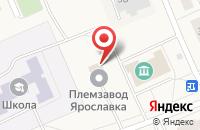 Схема проезда до компании Племзавод Ярославка в Ярославке