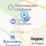 Сахареж на карте Ярославля
