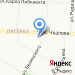 Рынок Ленинского района на карте Ярославля