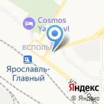 Северный ветер на карте Ярославля