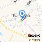 Церковь Троицы Живоначальной в Толгоболе на карте Ярославля