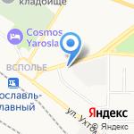 Пряжа на карте Ярославля