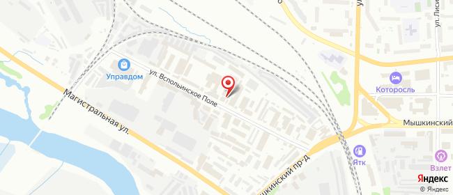 Карта расположения пункта доставки 220 вольт в городе Ярославль
