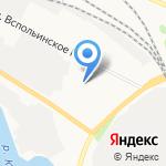 Веретея на карте Ярославля
