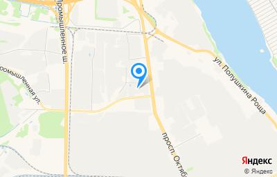 Местоположение на карте пункта техосмотра по адресу г Ярославль, пр-кт Октября, д 87А