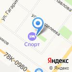 Бабочка на карте Ярославля